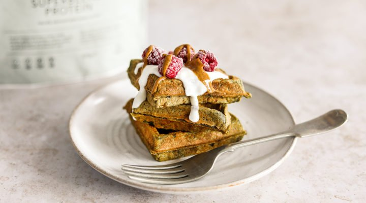 Superblend Toffee Banoffee waffles recipe